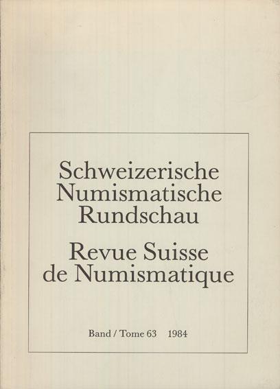1984 NUMISMATIKBÜCHER Revue suisse de numismatique. 1984 Très bon état.
