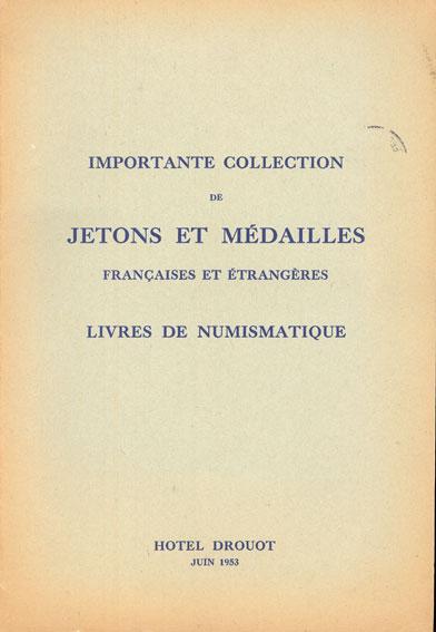 9.6.1953 NUMISMATIKBÜCHER Bourgey E., Paris, vente aux enchères, 8-9.6.1953 Très bon état.