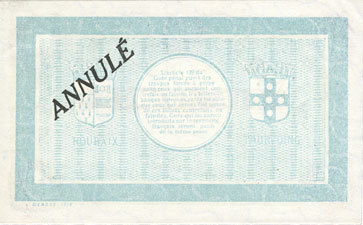20.4.1916 FRANZÖSISCHE NOTSCHEINE Roubaix et Tourcoing (59). Billet. 10 francs du 20.4.1916, 7e série. N° 8002.