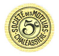 1920-12-31 FRANZÖSISCHE NOTSCHEINE Saint-Etienne (42). Chaléassière. Société des Moteurs. Billet. 5 centimes 31.12.1920 vz+