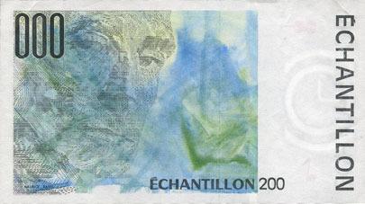 BANKNOTEN DER BANQUE DE FRANCE Billet de test pour distributeurs de billets, échantillon