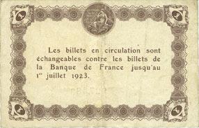 29.5.1920 FRANZÖSISCHE NOTSCHEINE Epinal (88). Chambre de Commerce. Billet. 1 franc 29.5.1920 ss
