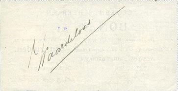 . Août 1914 ANDERE AUSLÄNDISCHE SCHEINE Pays Bas. Commune (Gemeente) Heerlen. 1 gulden. Août 1914. Daté avec cachet