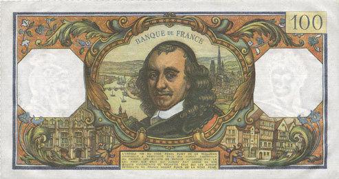 3.10.1974 BANKNOTEN DER BANQUE DE FRANCE Banque de France. Billet. 100 francs, Corneille, 3.10.1974 vz+
