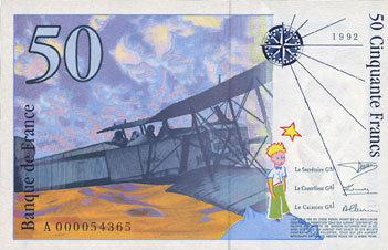 1992 BANKNOTEN DER BANQUE DE FRANCE Banque de France. Billet. 50 francs (Saint-Exupéry), 1992 I