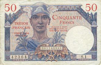 1947 BANKNOTEN DES SCHATZAMT (