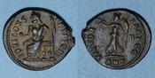 311-312 n.  RÖMISCHE KAISERZEIT Maximin II. Monnayage semi-autonome pour Antioche. 1/4 follis. Antioche 8e offic R ! Qualité remarquable pour ce type peu