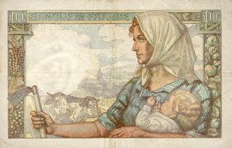 1946-12-19 BANKNOTEN DER BANQUE DE FRANCE Banque de France. Billet. 10 francs mineur, 19.12.1946 ss