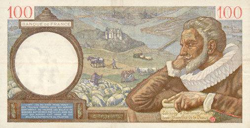 5.12.1940 BANKNOTEN DER BANQUE DE FRANCE Banque de France. Billet. 100 francs Sully, 5.12.1940 ss+