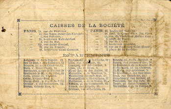 18 novembre 1871 FRANZÖSISCHE NOTSCHEINE Bar-le-Duc (55). Société Générale. Billet. 2 francs 18 novembre 1871. Série A ss / s+