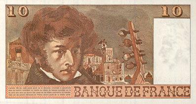 6.7.1978 BANKNOTEN DER BANQUE DE FRANCE Banque de France. Billet. 10 francs, Berlioz, 6.7.1978 vz+