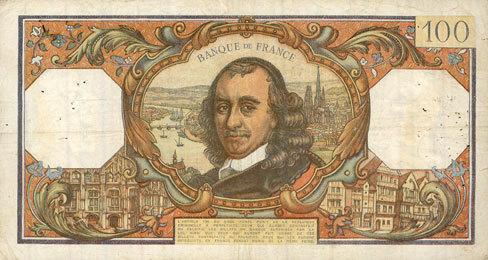 5.9.1968 BANKNOTEN DER BANQUE DE FRANCE Banque de France. Billet. 100 francs, Corneille, 5.9.1968 s+