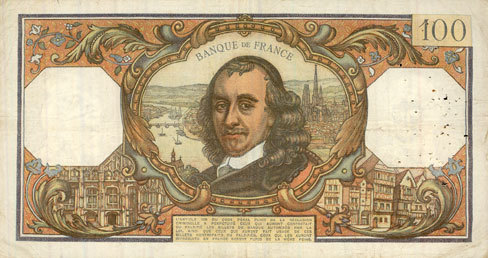 4.2.1971 BANKNOTEN DER BANQUE DE FRANCE Banque de France. Billet. 100 francs, Corneille, 4.2.1971 s-ss