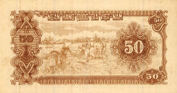 1951 ANDERE AUSLÄNDISCHE SCHEINE Vietnam. Banque Nationale du Vietnam - Ngân Hàng Quôc Gia Viêt Nam. Billet. 50 dong (1951) vz