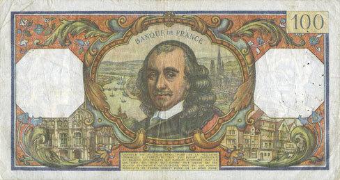 2.7.1964 BANKNOTEN DER BANQUE DE FRANCE Banque de France. Billet. 100 francs, Corneille, 2.7.1964 ss