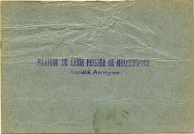 18.6.1940 FRANZÖSISCHE NOTSCHEINE Malmerspach (68). Filature de laine peignée. Billet. 10 francs 18.6.1940, signature : Gary s