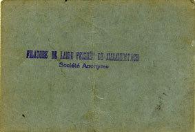 18.6.1940 FRANZÖSISCHE NOTSCHEINE Malmerspach (68). Filature de laine peignée. Billet. 10 francs 18.6.1940, signature : Gary s-ss