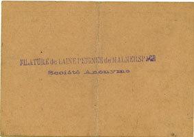 18.6.1940 FRANZÖSISCHE NOTSCHEINE Malmerspach (68). Filature de laine peignée. Billet. 100 francs 18.6.1940, signature : Gary ss+