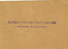 18.6.1940 FRANZÖSISCHE NOTSCHEINE Malmerspach (68). Filature de laine peignée. Billet. 100 francs 18.6.1940, signature : Gary vz