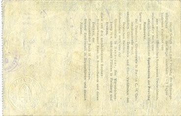 12.9.1922 DEUTSCHLAND - NOTGELDSCHEINE (1914-1923) A - J Bremerhaven. Stadt. Billet. 1 000 mark 12.9.1922 ss