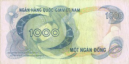 1971 ANDERE AUSLÄNDISCHE SCHEINE Vietnam du Sud. Banque Nationale du Vietnam. Billet. 100 dong (1971) ss+