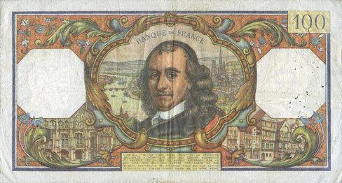 3.12.1964 BANKNOTEN DER BANQUE DE FRANCE Banque de France. Billet. 100 francs, Corneille, 3.12.1964 s-ss