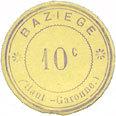 FRANZÖSISCHE NOTSCHEINE Baziège (31). Mairie. Billet. 10 centimes I