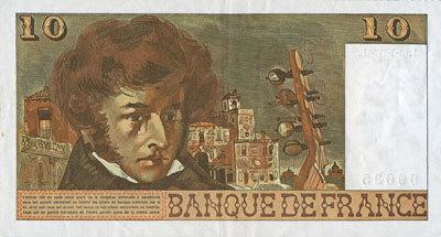 15.5.1975 BANKNOTEN DER BANQUE DE FRANCE Banque de France. Billet. 10 francs, Berlioz, 15.5.1975 ss+
