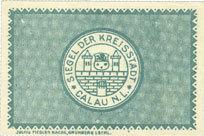 1.5.1917 DEUTSCHLAND - NOTGELDSCHEINE (1914-1923) A - J Calau. Stadt. Billet. 25 pfennig 1.5.1917 I