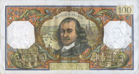 1.7.1965 BANKNOTEN DER BANQUE DE FRANCE Banque de France. Billet. 100 francs, Corneille, 1.7.1965 ss+