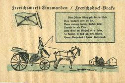janvier 1921 DEUTSCHLAND - NOTGELDSCHEINE (1914-1923) A - J Einswarden. Frerichswerft. Billet. 50 pf janvier 1921. R/: