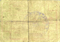 15.1.1915 FRANZÖSISCHE NOTSCHEINE Carvin (62). Ville. Billet. 25 cmes 15.1.1915, fond constitué de dessins géométriques au revers sge
