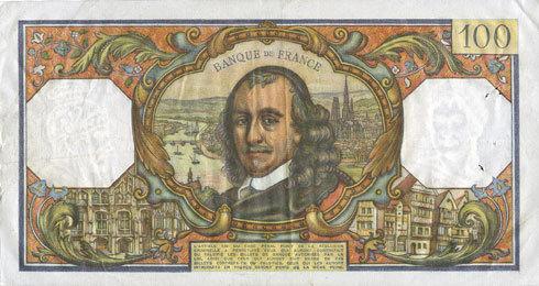 2.12.1965 BANKNOTEN DER BANQUE DE FRANCE Banque de France. Billet. 100 francs, Corneille, 2.12.1965 ss+ / ss