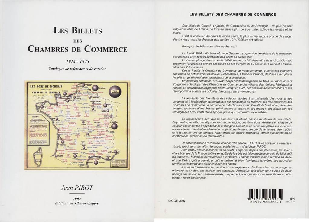1914-25 PAPIERGELD PIROT J. - Les Billets des Chambres de Commerce 1914-25. 2002