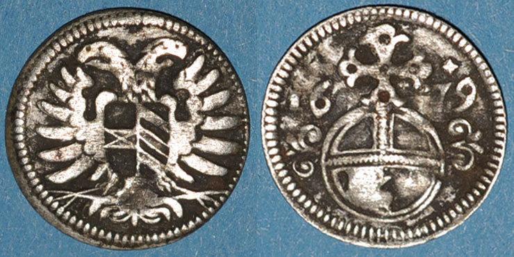 1679 EUROPA Silésie. Léopold I (1657-1705). 3 pfennig 1679. Opole (Oppeln) s-ss