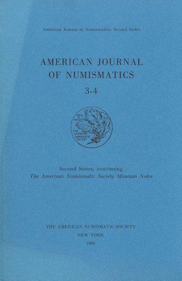 1992 NUMISMATIKBÜCHER American Journal of Numismatic 3-4. 1992 Très bon état.