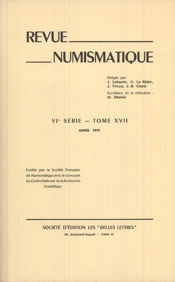 1975 NUMISMATIKBÜCHER Revue numismatique. 1975 Bon état.