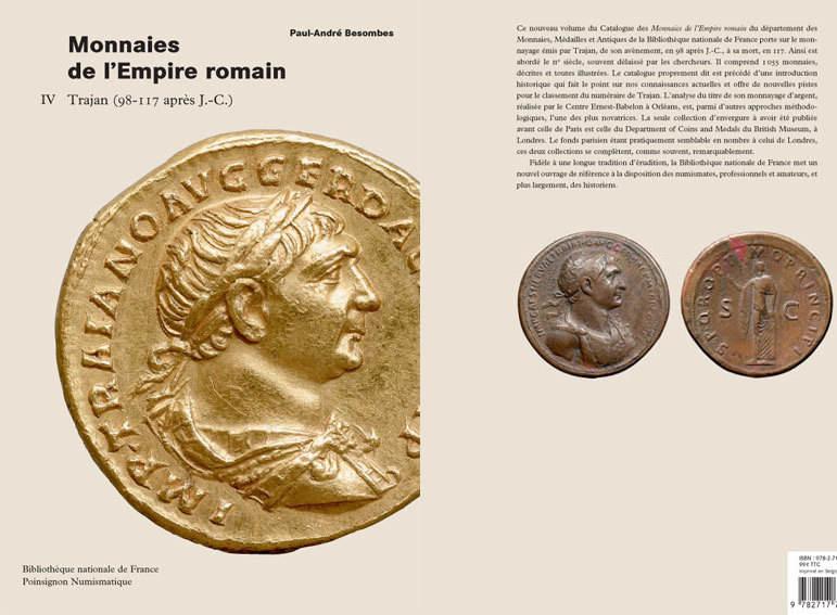 98-117 n. Chr. ANTIKE MÜNZEN BIBLIOTHEQUE NATIONALE. Catalogue des Monnaies de l'Empire Romain - T 4 : Trajan (98-117 ap J.-C.)