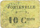 FRANZÖSISCHE NOTSCHEINE Fontenelle (02). Billet. 10 centimes s+