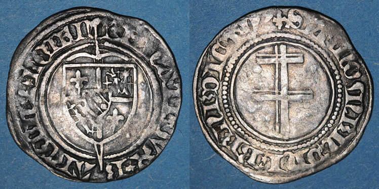 1419-1480 LOTHRINGEN Lorraine. Duché de Bar. René I (1419-1480). Gros. Saint-Mihiel s-ss