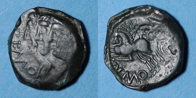 KELTISCHE MÜNZEN Rémi (2e moitié du 1er siècle av. J-C). Bronze s+