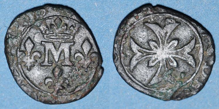 1650-1693 ANDERE FEUDALE MÜNZEN Principauté de Dombes. Anne-Marie-Louise d'Orléans (1650-1693). Liard (167)7 R ! R ! s