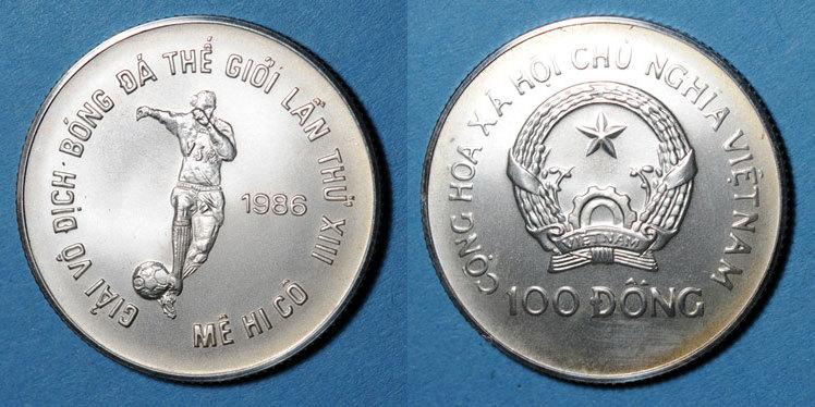 1986 WELTMÜNZEN Q bis Z Vietnam. République Socialiste (1976- ). 100 dong 1986 vz