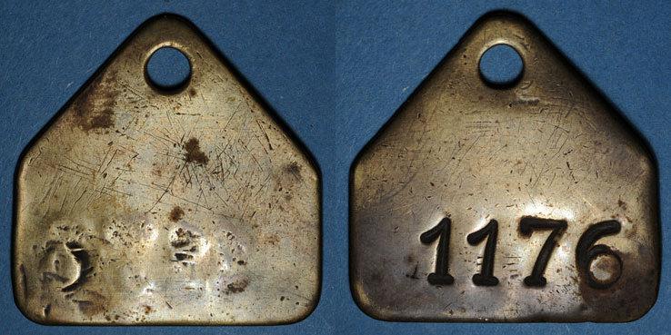1176 FRANZÖSISCHE NOTMÜNZEN Forbach (57). Les Puits Simon. Jeton de présence, n° matricule 1176 ss