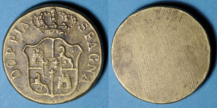 1700-1746 GEWICHTE Espagne. Poids monétaire du doublon d'Espagne de Philippe V (1700-1746) ss+