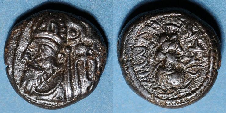 vers 90-100 n. Chr. GRIECHISCHE MÜNZEN Royaume d'Elymaïde. Orodes III (vers 90-100). Drachme, Suse Très légère corrosion / avers sinon ss