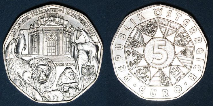 2002 EUROPA Autriche. 5 euro 2002.