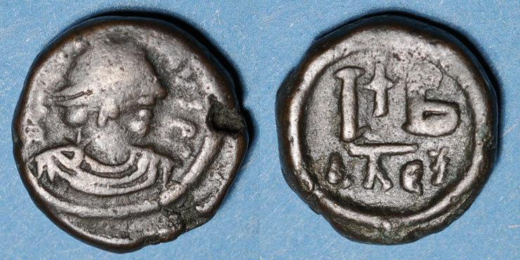 527-565 n. Chr. BYZANZ Empire byzantin. Justinien I (527-565). 12 noummia. Alexandrie, 527-565 s / ss