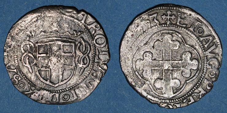 1553 EUROPA Italie. Duché de Savoie. Charles II le Bon (1504-1553). Gros. 3e type 1553. Aoste s