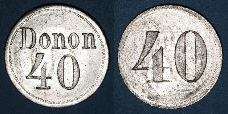FRANZÖSISCHE NOTMÜNZEN Strasbourg (67). Donon. 40 pfennig n. d. vz / ss-vz